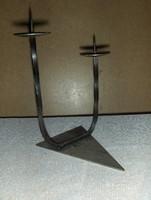 Kovácsoltvas kétágú gyertyatartó 22 cm (KV)