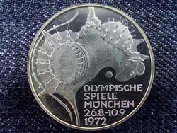 Németország ezüst 10 Márka 1972 D PP, Olimpiai játékok München/id 9065/