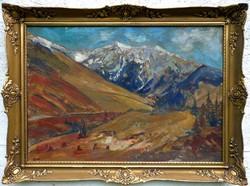 """Polónyi Károly  ( 1894-1946 ) """" Tátrai táj """""""