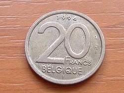 BELGIUM BELGIQUE 20 FRANK 1994  #