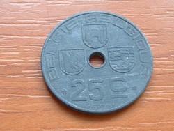 BELGIUM BELGIE - BELGIQUE 25 CENTIMES 1944 WW II CINK #