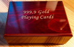 ARANY PÓKERKÁRTYA, 99.9 %  gold