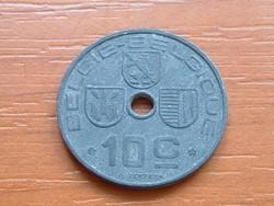 BELGIUM BELGIE - BELGIQUE 10 CENTIMES 1943 WW II CINK #