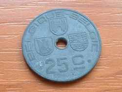 BELGIUM BELGIQUE - BELGIE 25 CENTIMES 1943 WW II CINK #