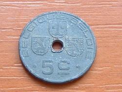 BELGIUM BELGIQUE - BELGIE 5 CENTIMES 1941 WW II CINK #