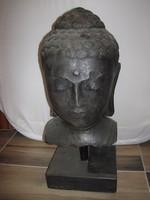 Nagy Buddha fej - vas öntvény