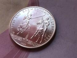 1980 Moszkvai olimpia szovjet ezüst 5 rubel 16,7 gramm 0,900