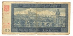 100 korun 1940 Cseh Morva Protektorátus