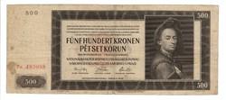 """500 korun 1942 Cseh-Morva """"2. auflage"""""""