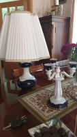 Zsolnay Asztali Lámpa, 3 Ágú Gyertyatartó