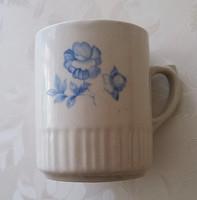 Zsolnay kék virágos porcelán bögre 9.5 cm