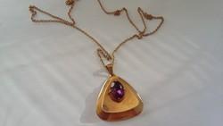 Gyönyörű régi medál nyaklánccal