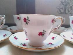Antik angol apró rózsás teás csésze 6db Colclough