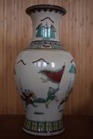 Tradicionális, repesztett mázas kínai porcelán! Régi, jelzett darab.