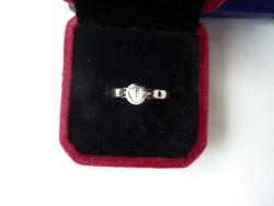 Fehérarany antik gyűrű 4,3 rózsacsiszolású gyémánt kővel