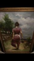 Életkép a vízparton -olaj vászon festmény