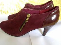 03519628fec8 Szép elegáns padlizsán lila velúr és lakk magas sarkú női cipő 40 oldalt  cippes új állapotú