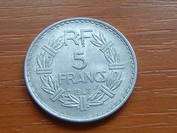 FRANCIA 5 FRANCS FRANK 1947 ALU.