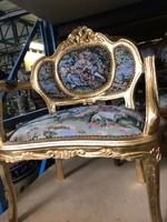 Aranyozott gobelin ülőgarnitúra