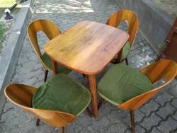Tátra Nabytok design székek + mid century tv asztal - Ritka és gyönyörű garnitúra!