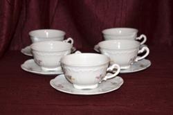 Zsolnay barokkos, szórt virágos teások pótlásra   ( DBZ 00106 )