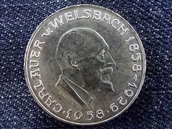 Osztrák ezüst 25 Schillig 1958, Auer von Welsbach/id 9607/