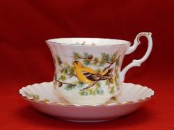 """Royal Albert erdei madár sorozat """"Tengelice"""" tagja. Teás szett"""