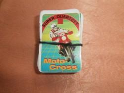 Retro Moto Cross mini kártya