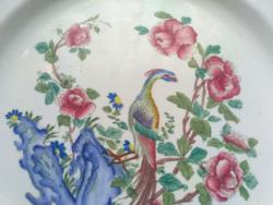 Antik angol fajansz tányér tál kínáló- Paradicsommadaras