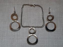 925-ös ezüst nyaklánc és fülbevaló szett