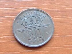 BELGIUM BELGIQUE 20 CENTIMES 1953  BÁNYÁSZ