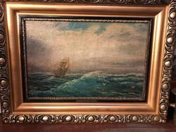 Telepy Károly: Hajó a tengeren