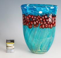 Millefiori technikával készült muránói váza