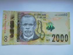 Malawi 2000 kwacha 2014 UNC  A legnagyobb címlet!
