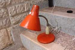 Retro asztali íróasztal lámpa narancs szín