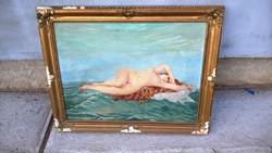 Nagyméretű akt kép 94*75 cm szignózott (Törő Margit?)