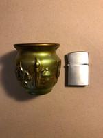 Zsolnay kis eozinos pohár
