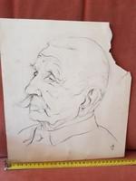 Remek portré-grafika szakadt papíron