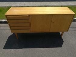 Német bauhaus , mid century, minimal design sideboard, fiókos komód, tálalószekrény