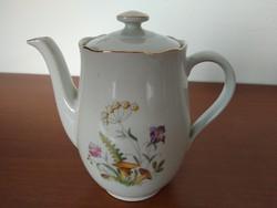 Virág és gomba mintás, kispesti porcelán teás / kávés kanna, kiöntő eladó