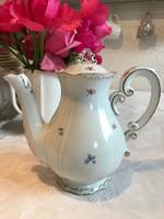 Apró virágos Zsolnay kávés kanna