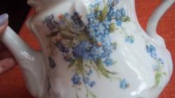 Nagyméretű,gyönyörű nefelejcs mintás,szecessziós (teás,tejes) kancsó formaszámmal.(kb.1.5 l.)