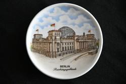 Berlin emléktálka dísztál - falitál - Reichstaggebaude felirattal