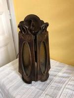 Szecessziós stílusú bronz lámpa,használható állapotban