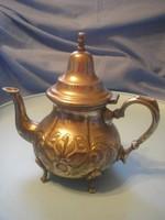 U8 Chinai antik nagyméretű ezüstözött kávé/tea kiöntő jelzett