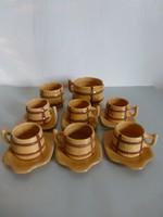 Retro,vintage hordó alakú kerámia teás vagy boros készlet