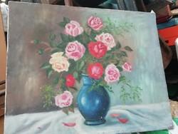 Virág csendélet olaj vászon festmény