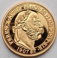 Ferenc József 100 korona 1907 Ag333 5.5g certi csak 2009 db.