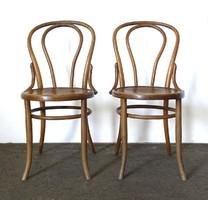 0X212 Antik jelzett bécsi Thonet szék 2 darab