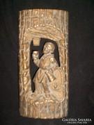 Antik fém fali kép A Bort tisztán a pálinkát piszkosul szereti 32 cm borospincébe